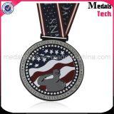 Medalhas baratas chapeadas cobre dos esportes do metal feito sob encomenda por atacado com fita