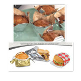 대중음식점에서 감싸는 함부르크를 위한 음식 급료 알루미늄 종이