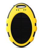 Caricatore solare portatile ovale della Banca 5000mAh di energia solare delle coperture del silicone con il LED