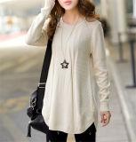 Do pulôver redondo da garganta das mulheres ocasionais novas camisola frouxa (50202)