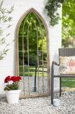 Напольное зеркало стены прямоугольника ковки чугуна украшения