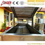 Nastro trasportatore automatico industriale che frigge macchina