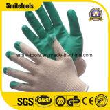 PVC 점을%s 가진 장갑을 작동하는 뜨개질을 한 면 장갑