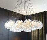 2017hotsale LED moderne Glaskugel-verschobene hängende Lampen für Innenbeleuchtung