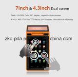 Posição móvel Android da impressora dupla PDA do restaurante da tela