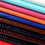 PU brillante exportada Leahter de la calidad para los zapatos y los accesorios de los bolsos