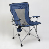 백레스트와 팔걸이를 가진 휴대용 강화된 옥외 여가 의자