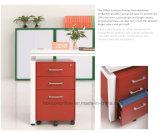 Мебель металла шкафа для картотеки 5 колес передвижная с 3 ящиками /Pedestal