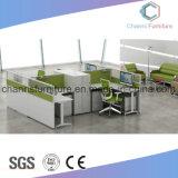 Het moderne van rechtstreeks 4 Zetels Werkstation van het Kantoormeubilair van de Lijst van de l- Vorm