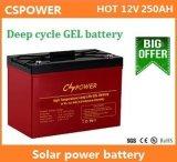 batteria profonda del gel di lunga vita del ciclo di 12V 250ah per la fabbricazione solare della Cina di memoria
