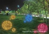 Decoración de Navidad de luz LED de forma de la bola grande del adorno 3D Luz