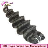 Parti cambogiane dei capelli umani del Virgin profondo allentato di Hotselling