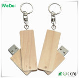 Best Seller Wooden USB Stick with Metal Keychain (WY-W37)