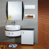 MirrorのFloor簡単なStanding PVC Bathroom Cabinet