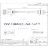 Cummins 9 P Male CableへのOBD16p Male