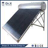 避難させた管のコンパクト圧力太陽給湯装置無し