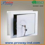 Coffre-fort plat simple de mémoire de mur avec des clés mécaniques de blocage et de lame, grandeurs naturelles