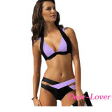 2016 OEM van de Manier de In het groot Bikini Swimwear van het Zwempak van de Slijtage van het Neopreen van de Bikini van het Strand van het Badpak van het Meisje van de Vrouwen van de Voorraad Sexy Zwemmende