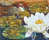 Wasser-Lilien-Glashandschnitt-Kunst-Mosaik-Abbildung (CFD98)