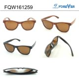 Óculos de sol Fqw161259 de madeira Ultra-Thin dentro da liga de alumínio