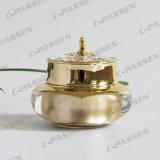 50g化粧品の包装のための贅沢な金の王冠のアクリルのクリーム色の瓶(PPC-NEW-006)
