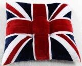 Английским полиэфир напечатанный флагом декоративный заполняя напольную подушку сиденья