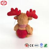 Il regalo molle di seduta della peluche ricamato animale delle alci del Brown scherza il giocattolo