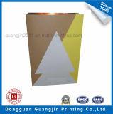 Estilo simple bolsa de papel kraft de embalaje sin mango para ir de compras