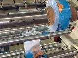 Máquina que raja con rebobinar para la película plástica