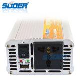 Inversor da potência do carro da alta qualidade de Suoer com C.C. 12V da campainha eléctrica 1000W a C.A. 230V (USB-1000A)