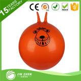 Шарик шипучки цветастой игрушки скача шарика тренировки PVC скача с ручкой