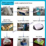 Flor de la alta calidad que envuelve la cadena de producción del papel de tejido y del papel higiénico