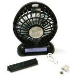Beweglicher Ventilator, Mini-USB-nachladbarer Ventilator mit Bank der Energien-2600mAh und Taschenlampe, für das Reisen, fischend und kampieren, Wandern und wandern, BBQ, Baby-Spaziergänger, Picknick und fahren rad