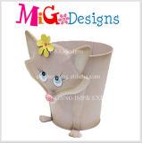 美しい猫の動物の庭の鋳鉄の装飾プランター