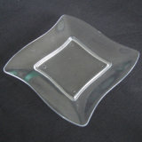 Le plateau remplaçable de plaque en plastique de vaisselle Grand dos-Ondulent la plaque
