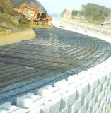 Einachsiges Geogrid pp. für Building High Way oder Railway