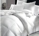 Duvet do silicone na cor contínua branca para o uso do hotel (DPF201541)