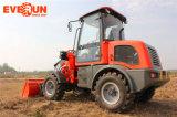 De Machines van Everun van Qingdao Lader van het VoorEind van 1.2 Ton de Kleine Gearticuleerde met Houten Vorken