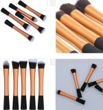 5 PCS Top Gold Long Aluminium Tube Small Pretty Waist Special Handle Foundation Brush