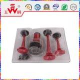 Haut-parleur rouge de klaxon d'air d'ABS trifilaire