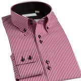 Camisa 100% de alineada del Mens del algodón de la aduana