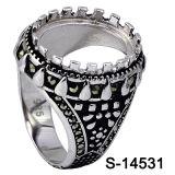 Anel de prata dos homens dos Prongs de Hotsale 925 da fábrica sem pedra Center