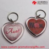 Trousseau de clés d'acrylique de souvenir de produits de décoration de forme de coeur