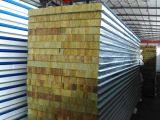 El panel de emparedado de acero verde de Rockwool para los materiales de construcción con buena calidad