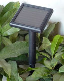 Los paneles solares con la batería y el regulador amorfos