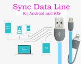 인조 인간과 iPhone를 위한 Sync 자료 선 마이크로 USB 케이블