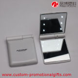 LED Light를 가진 플라스틱 ABS Rectangle Compact Mirror