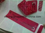 Leegte van de Sticker van de Veiligheid van de douane de Zelfklevende Open