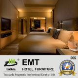Установленная мебель спальни самомоднейшей гостиницы 5 звезд деревянная (EMT-HTB04)