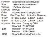 테일 정지 회전 리버스 기능을%s 가진 고품질 조합 LED 트럭 트레일러 미등 (LTL20)